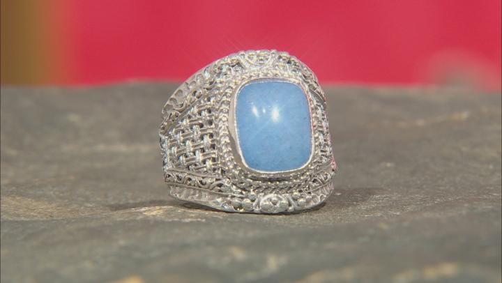 Cornflower Blue Quartzite Silver Ring