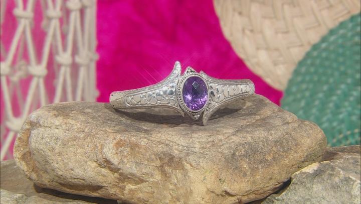 Purple Amethyst Silver Bracelet 8.20ctw