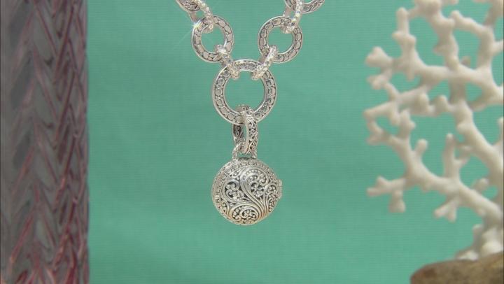 Sterling Silver Graduated Link Locket Necklace