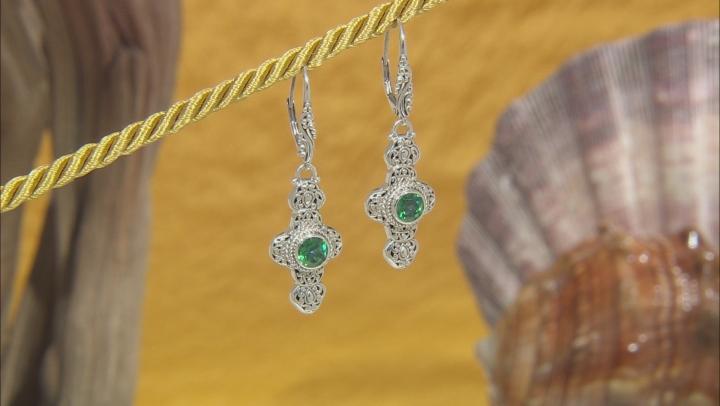 Bali Hai™ Topaz Silver Cross Dangle Earrings 1.84ctw