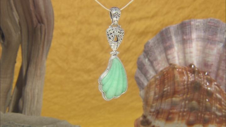 Green Quartzite Silver Pendant