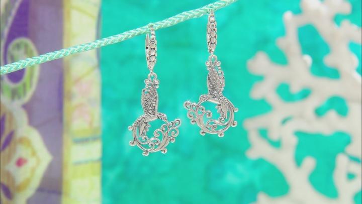 Sterling Silver Hummingbird Earrings