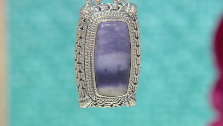 Purple Tiffany Stone Silver Pendant