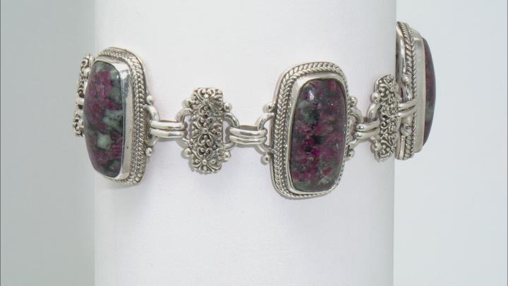 Multicolor Eudialyte Silver Bracelet