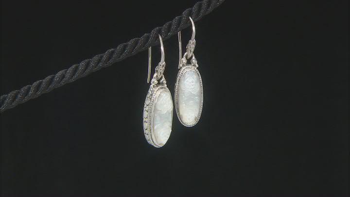 Mother Of Pearl Turtle Sterling Silver Earrings
