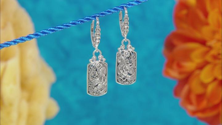 Sterling Silver Dragon Earrings