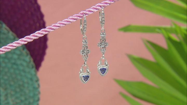 Tanzanite Sterling Silver Dangle Earrings 0.72ctw