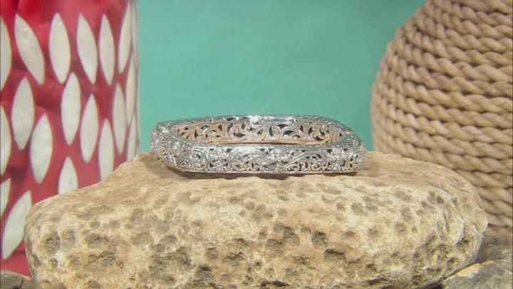 Sterling Silver Cross Bangle Bracelet