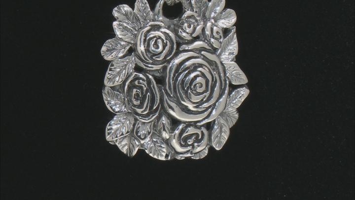 Sterling Silver Rose Pendant