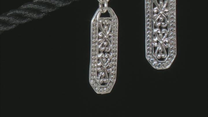 "Sterling Silver ""Always Present"" Dangle Earrings"