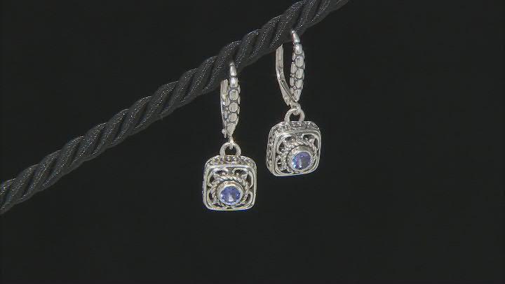 Blue Tanzanite Sterling Silver Earrings 0.23ctw
