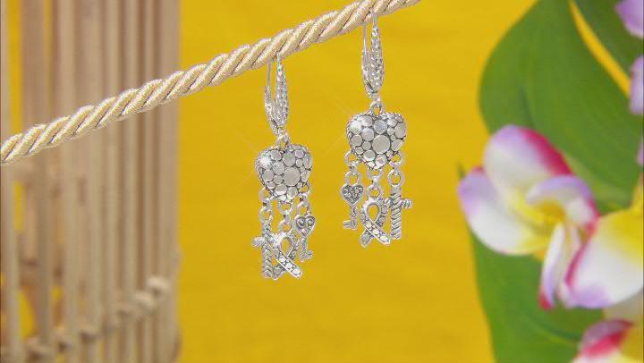 """Sterling Silver """"Great Love"""" Earrings"""