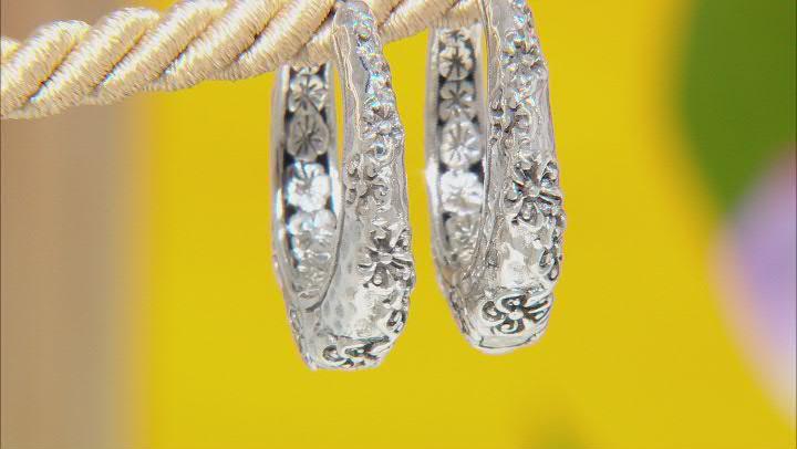 Sterling Silver Frangipani Earrings