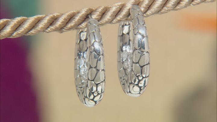 """Sterling Silver """"Intertwine""""  Hoop Earrings"""