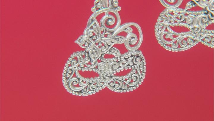 "Sterling Silver ""Masquerade"" Dangle Earrings"