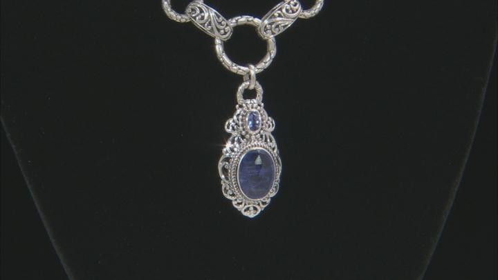 Tanzanite Sterling Silver Drop Necklace 4.84ctw