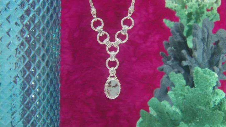 Aquaprase Cabochon Sterling Silver Necklace