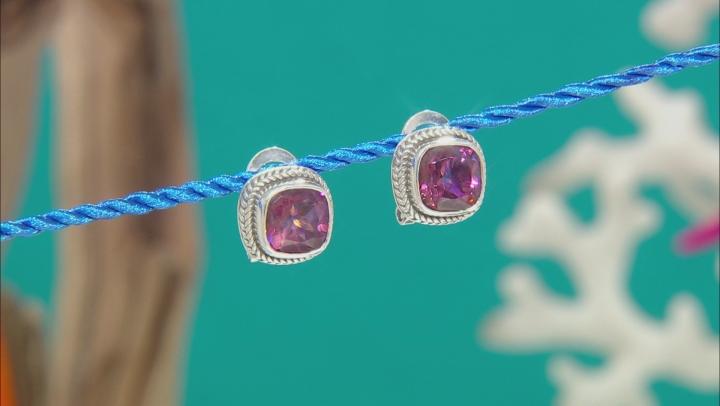 Summer Peach™ Quartz Silver Stud Earrings 4.90ctw