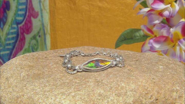 Ammolite Doublet Silver Bracelet