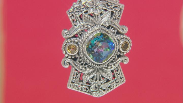 True Picasso™ Quartz And Citrine Sterling Silver Pendant 4.90ctw