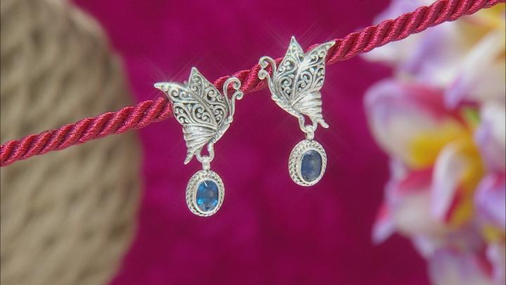 Kyanite Sterling Silver Butterfly Earrings 1.76ctw