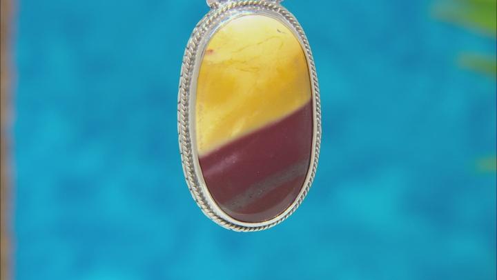 Mookaite Cabochon Sterling Silver Pendant