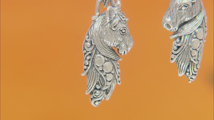 """Sterling Silver """"Tender Life"""" Horse Dangle Earrings"""