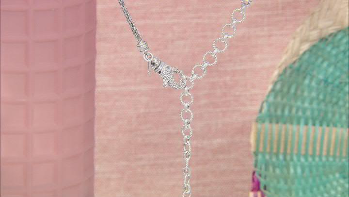 Green Prasiolite Sterling Silver Necklace 3.06ct
