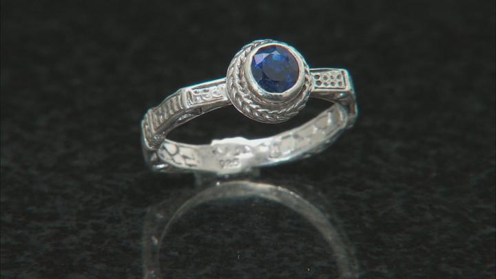 Blue Kyanite Sterling Silver Ring Set 0.55ct