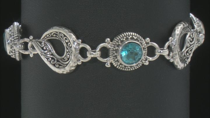 Blue Topaz Sterling Silver Bracelet 1.53ctw