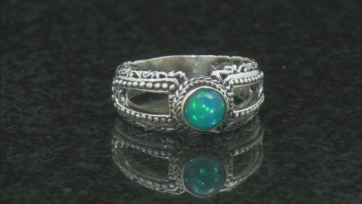 Ethiopian Opal Sterling Silver Ring 5mm