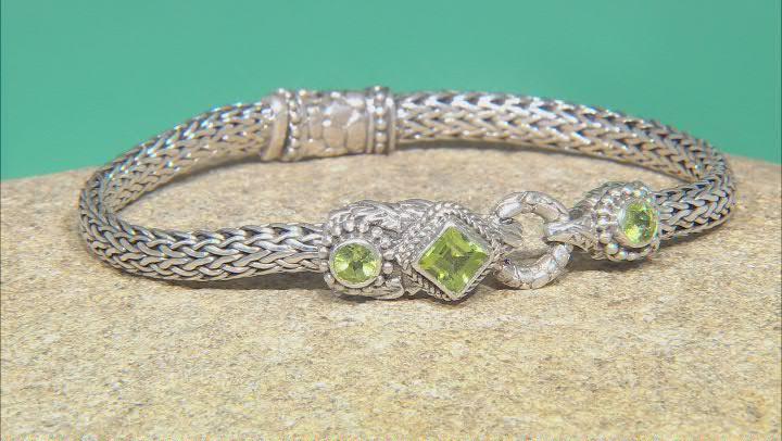Green Peridot Sterling Silver Bracelet 1.09ctw