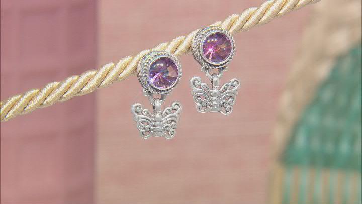 Zodiac Fun™ Mystic Quartz® Sterling Silver Earrings 3.14ctw