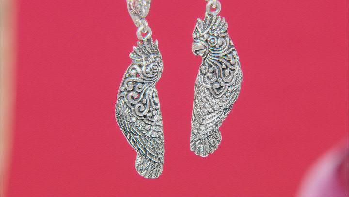 Sterling Silver Parrot Earrings