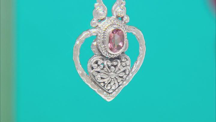 Morganite Color Mystic Topaz® Silver Pendant .51ct
