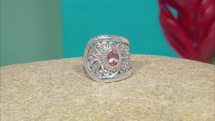 Morganite Color Mystic Topaz® Sterling Silver Ring .75ct