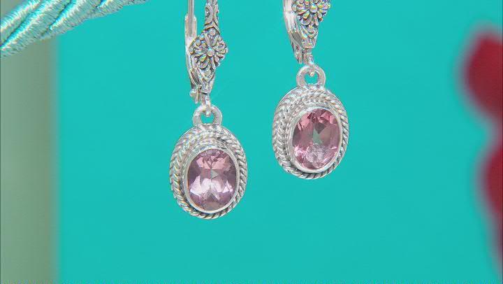 Morganite Color Mystic Topaz® Silver Earrings 2.72ctw