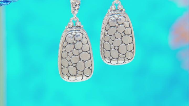 Sterling Silver Watermark Design Dangle Earrings