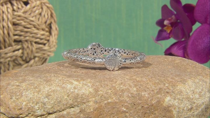 "Sterling Silver ""Chosen, Holy, And Dearly Loved"" Bangle Bracelet"
