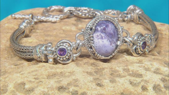 Tiffany Stone And Amethyst Silver Bracelet 0.44ctw