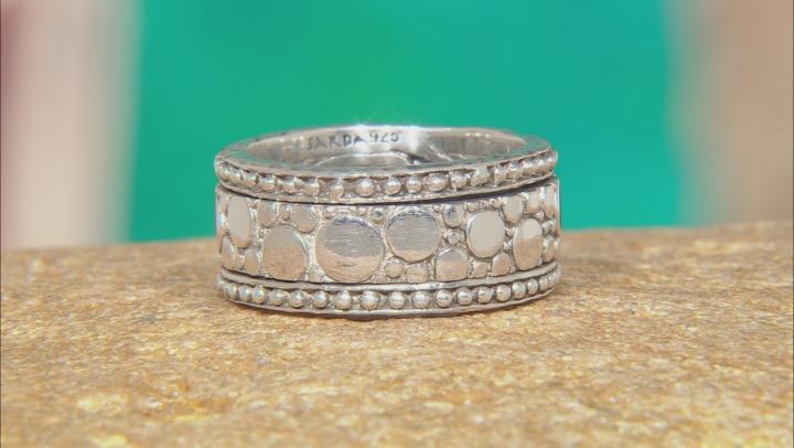 Sterling Silver Scattered Jawan Design Spinner Band Ring