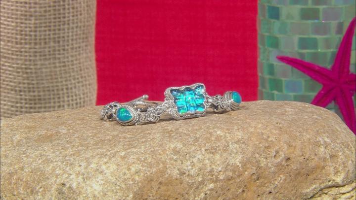 Quartz Doublet Silver Bracelet