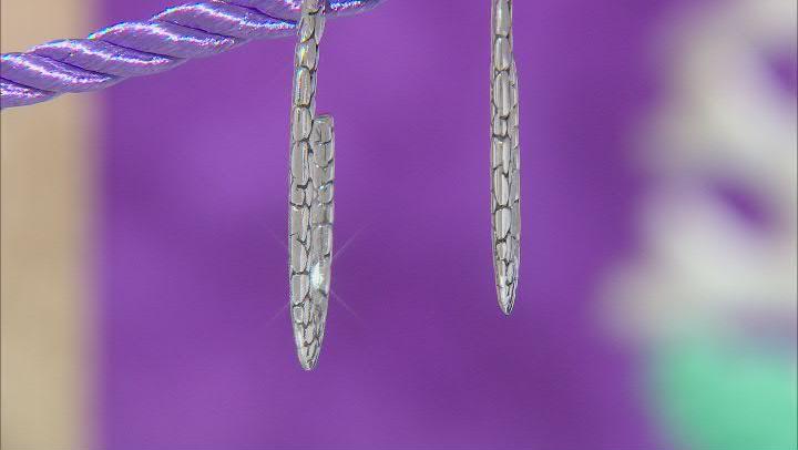 Sterling Silver Watermark Design Hoop Earrings