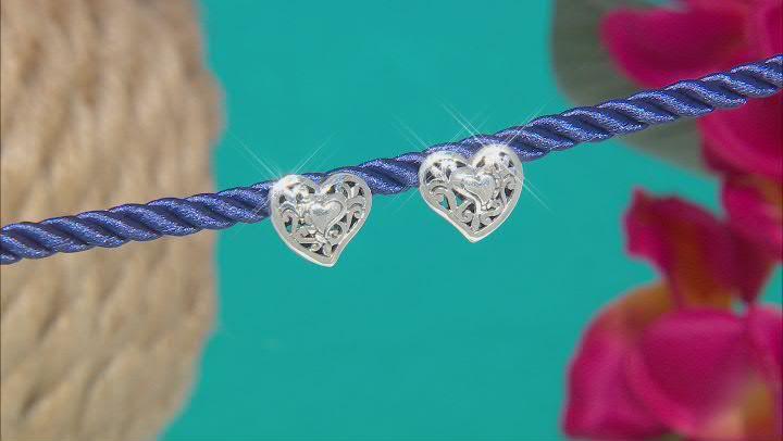 "Sterling Silver ""Love Never Ends"" Stud Earrings"