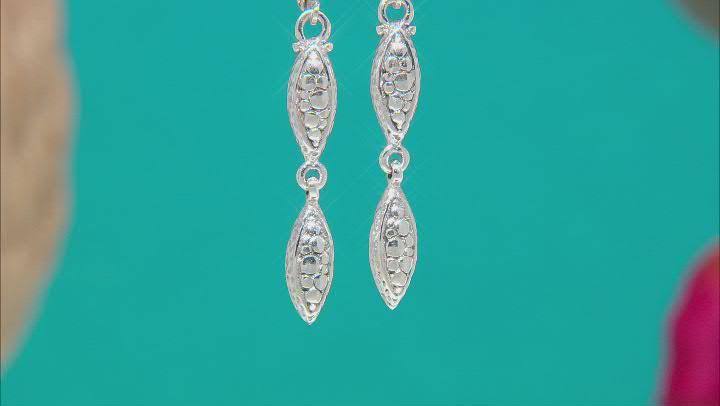 "Sterling Silver ""Faithful Servant"" Dangle Earrings"
