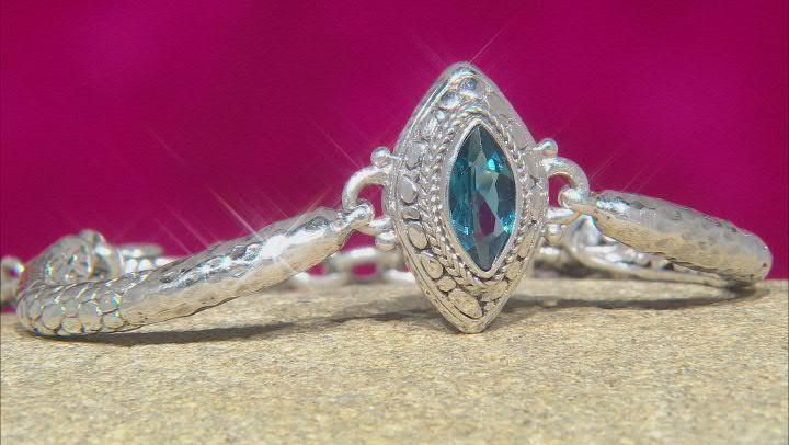 London Blue Topaz Sterling Silver Bracelet 1.66ct