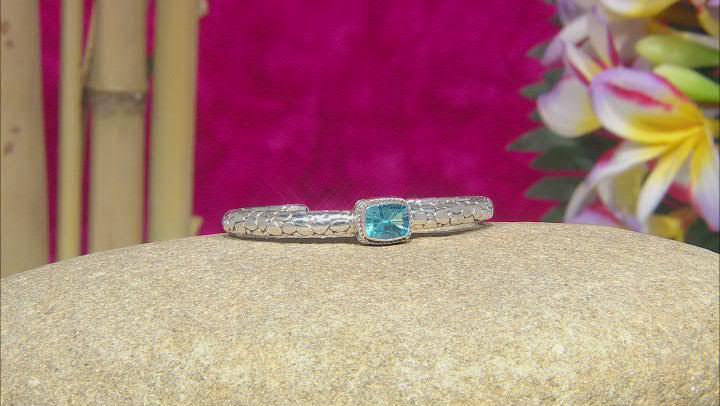 Blue Topaz Sterling Silver Bracelet 2.60ct