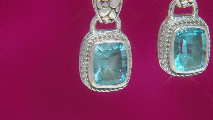 Blue Topaz Sterling Silver Earrings 5.20ctw