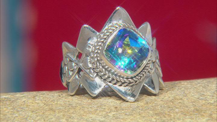True Picasso™ Mystic Quartz® Silver Ring 2.47ct