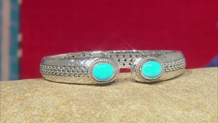 Sleeping Beauty Turquoise Silver Cuff Bracelet